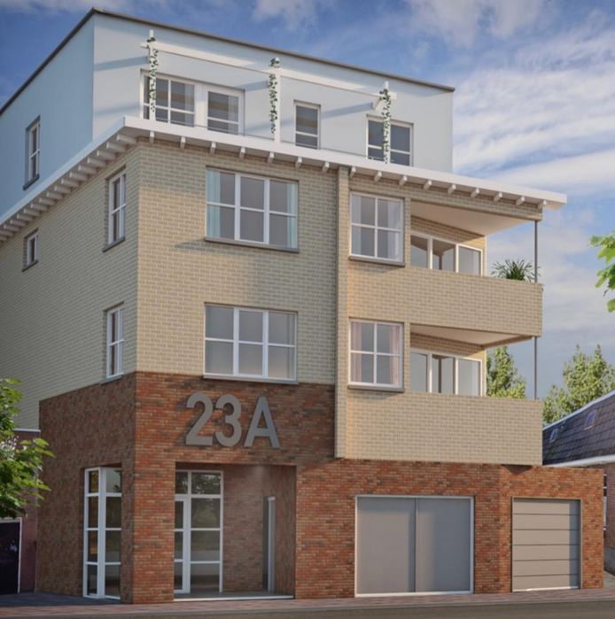 Zo gaat het appartementencomplex aan de kant van de Hagengracht 23a eruit zien.