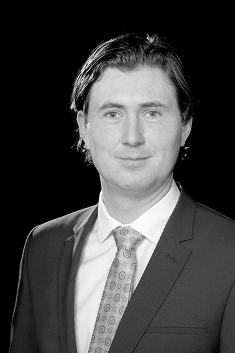 Kevin Kreuger, raadslid JA21 Amsterdam. Beeld