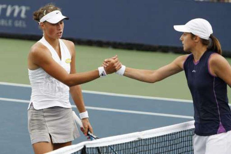 Voor Yanina Wickmayer is de US Open helaas al afgelopen Beeld UNKNOWN