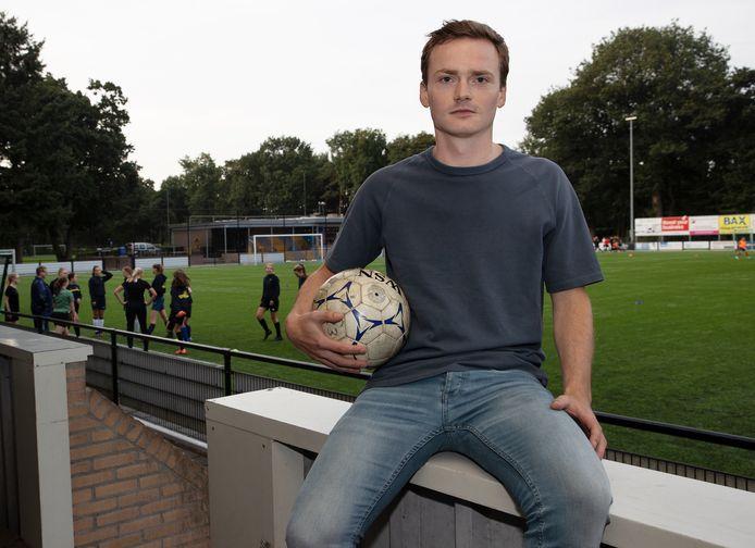 Luuk Kuijken, na drieënhalf jaar terug bij de voetbalvereniging van Bergeijk.