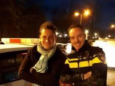 Politieagenten in Kaatsheuvel redden optreden van Douwe Bob