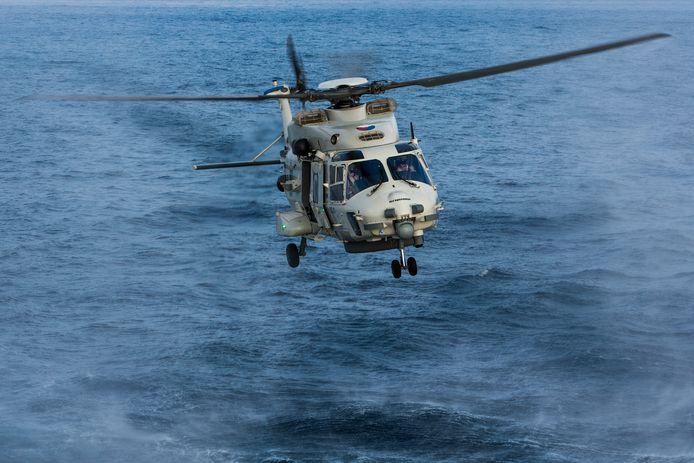 Een vergelijkbare NH90 die half juli bij Aruba in zee stortte.