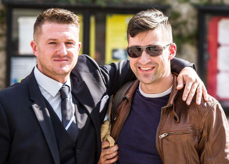 Tommy Robinson (links) en Martin Sellner (rechts). Beeld ZUMA Press