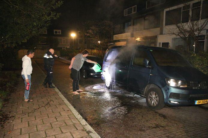 In Delft probeerden buurtbewoners zelf te blussen