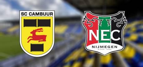 LIVE | NEC speelt gelijk tegen Cambuur