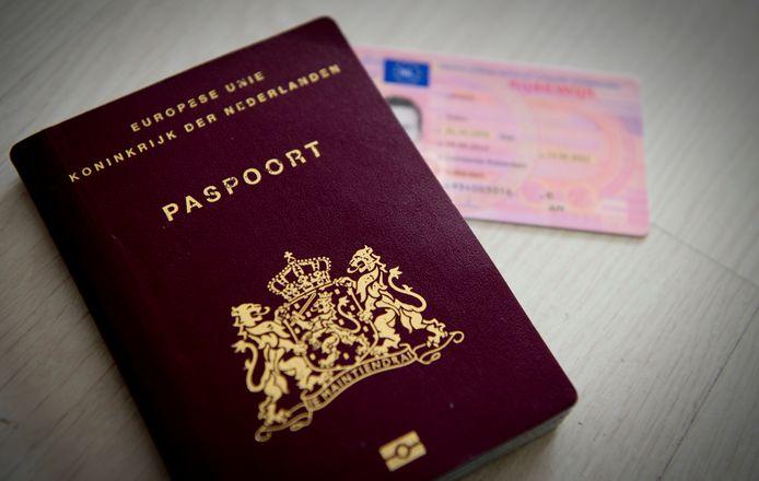 Een paspoort ter illustratie.