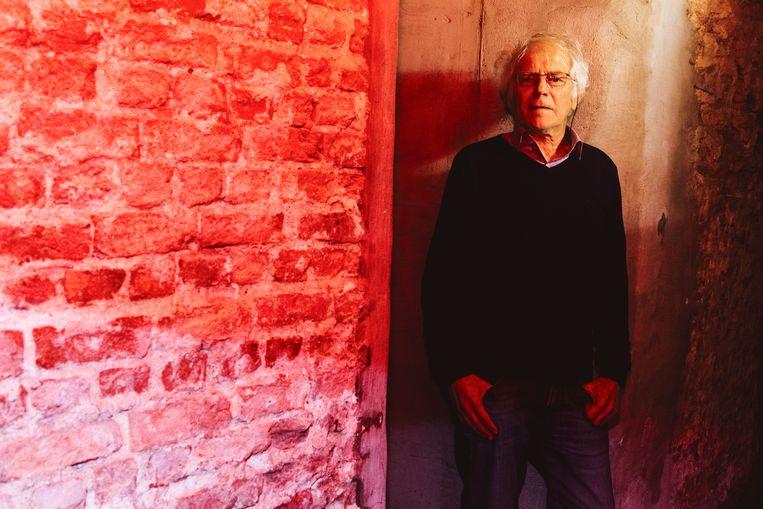 André Van Halewyck, in de kelder van boekhandel De Groene Waterman. Beeld Francis Vanhee