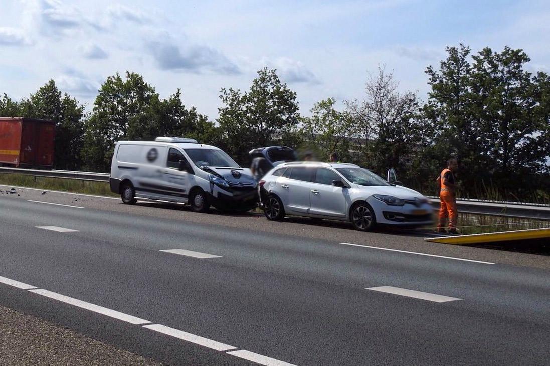 Gewonde bij ongeval op A2 bij Leende