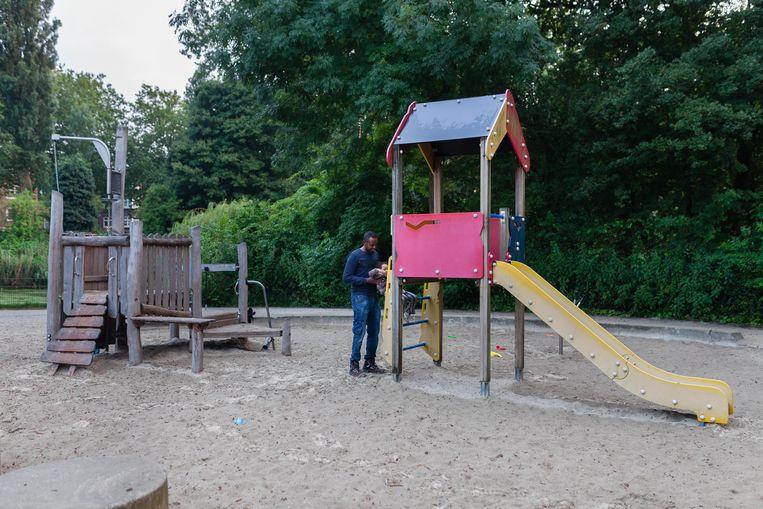 Speeltuin in het Erasmuspark. Beeld Nina Schollaardt