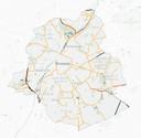 Il sera toujours possible de rouler à 50km/h (jaune) et à 70 km/h (rouge) sur certains axes structurants.
