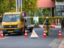 Brandgevaar in Apeldoorn door grote gaslekkage: brandweer zet waterkanon in