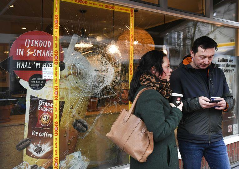 Een winkel in het centrum van Den Bosch, op dinsdagochtend.  Beeld ANP