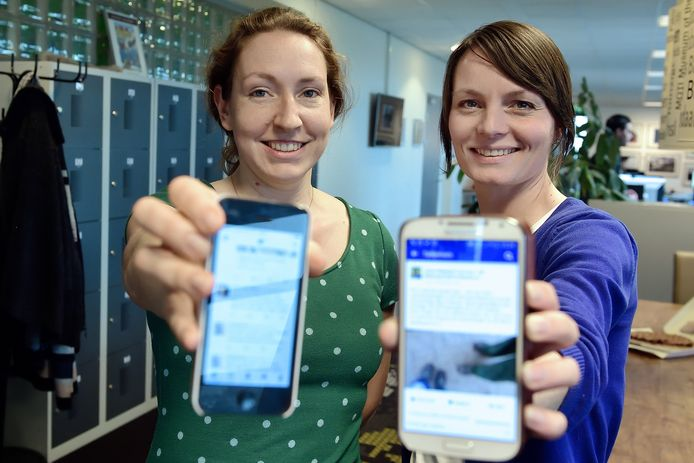 Vastenactie met verslaggeefster Nicole Froeling(l) en Jamie Nederpel stoppen 40 dagen met social media