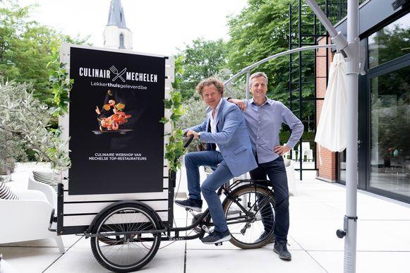 Wim Voss en Ivo Van Itterbeeck zijn de initiatiefnemers van LekkerThuisGeleverd.be