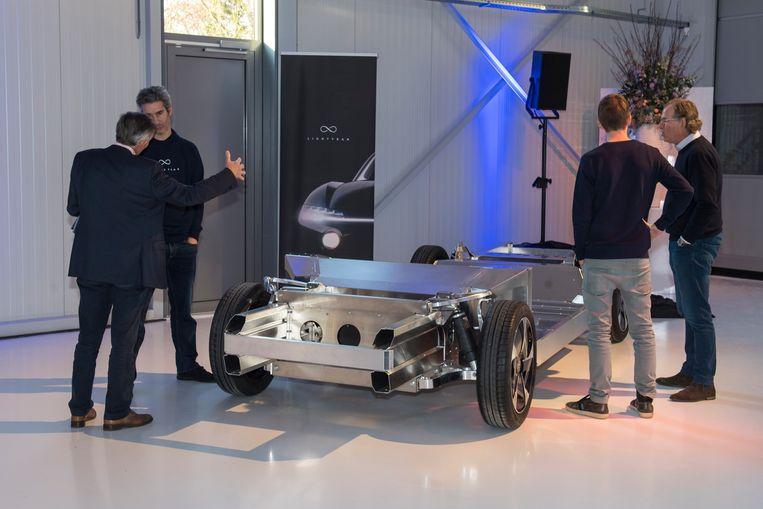Een promotiefoto van het chassis van de Lightyear One Beeld lightyear