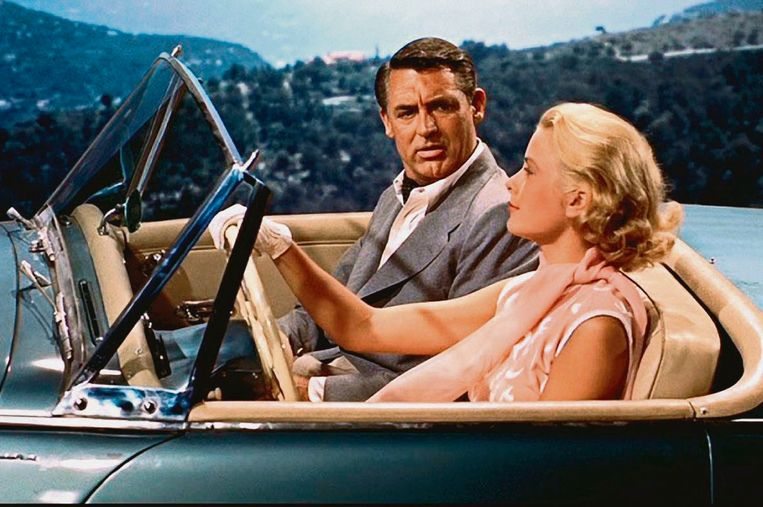 Cary Grant en Grace Kelly in To Catch a Thief. Beeld