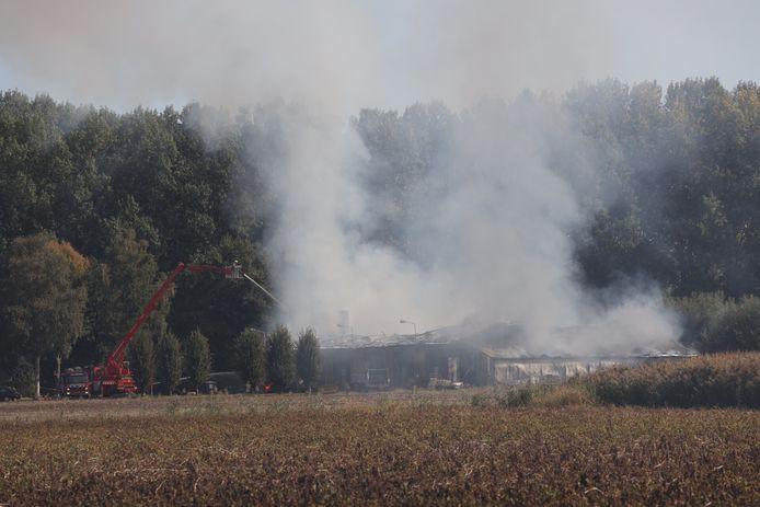 Uitslaande brand in Sint-Oedenrode.