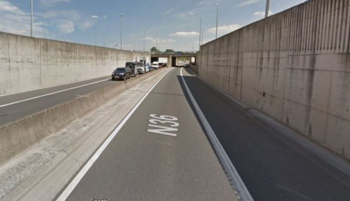 De N36, nabij de E3-tunnel