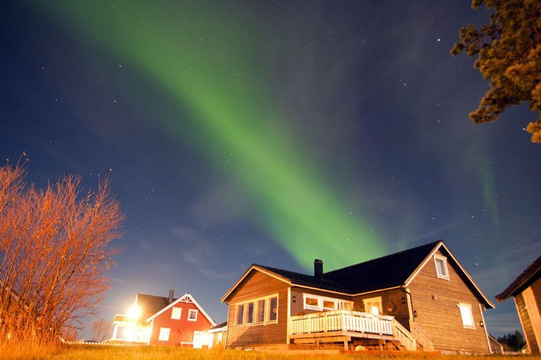 Poollicht boven Noorwegen (10 oktober 2011). © EPA Beeld