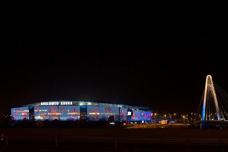 Ghelamco Arena stadion, Gent.  Beeld BELGA