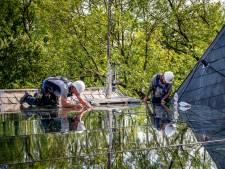 Een megaklus in de lucht: binnenplaats van Kasteel Wijchen heeft nu hypermodern dak
