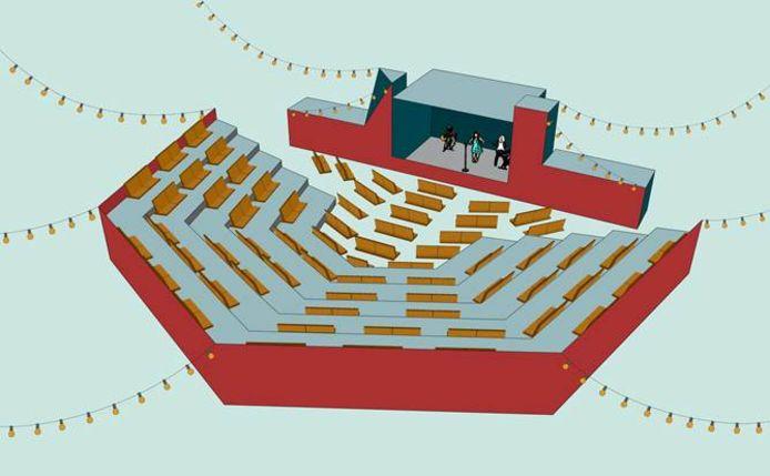 Cultuurcentrum Zwaneberg bouwt een amfitheater op het Cultuurplein