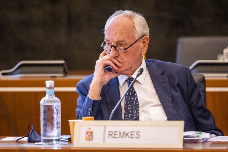 Johan Remkes, waarnemend gouverneur van Limburg, tijdens Provinciale Statenvergadering Limburg. Beeld ANP