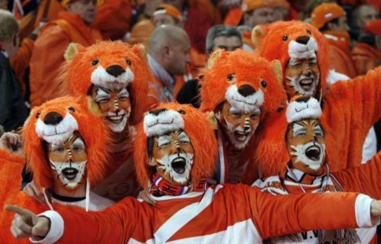Nederlandse supporters bij een WK-kwalificatiewedstrijd. ANP Beeld