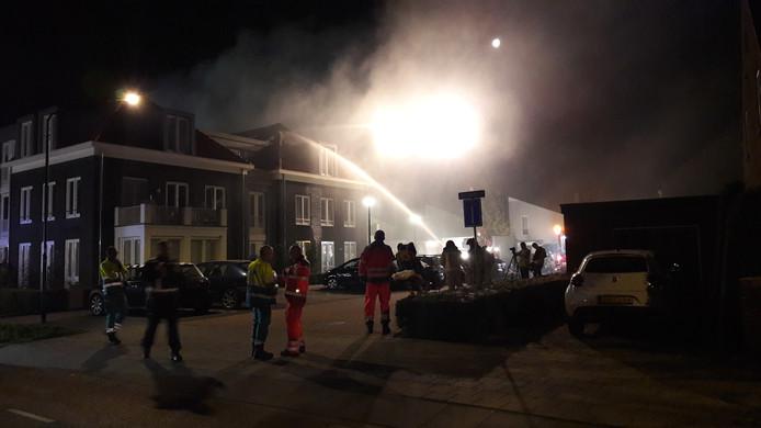Twee gewonden bij brand in Liessel.