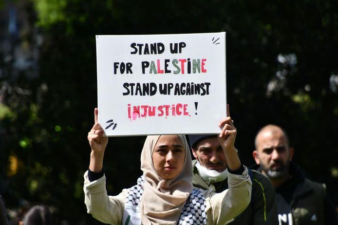 Free Palestina-demonstratie in Enschede