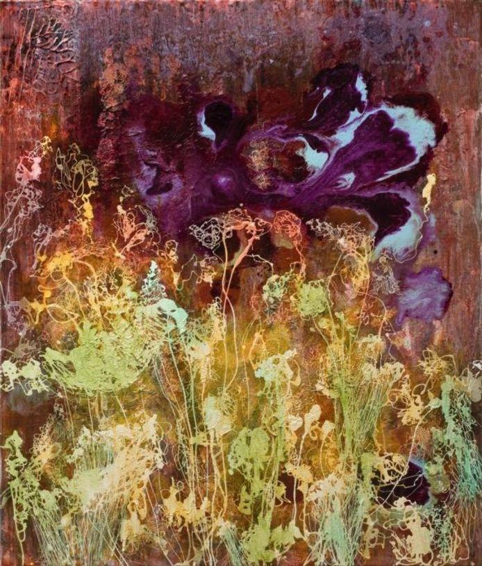 Reinout van Vught, zonder titel, 2008. Olie- en acrylverf op linnen. Te zien in het Van GoghHuis, Zundert.