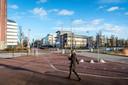 Het is nu nog moeilijk voor te stellen dat het kantorenpark straks een bruisende wijk wordt. Het is er rustig en kil.