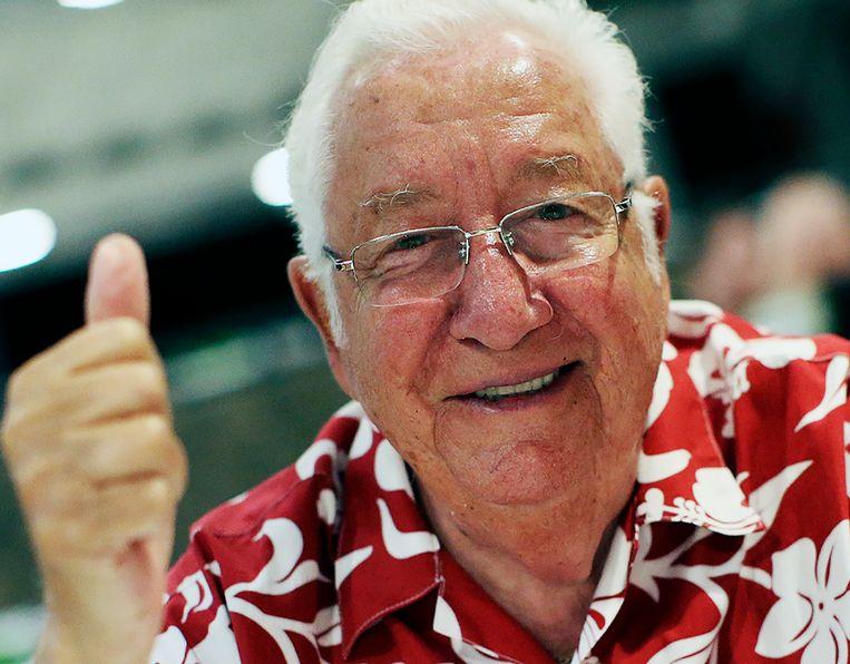 Paul Van Doren (1930-2021) was de oprichter van schoenenmerk Vans. Beeld AP