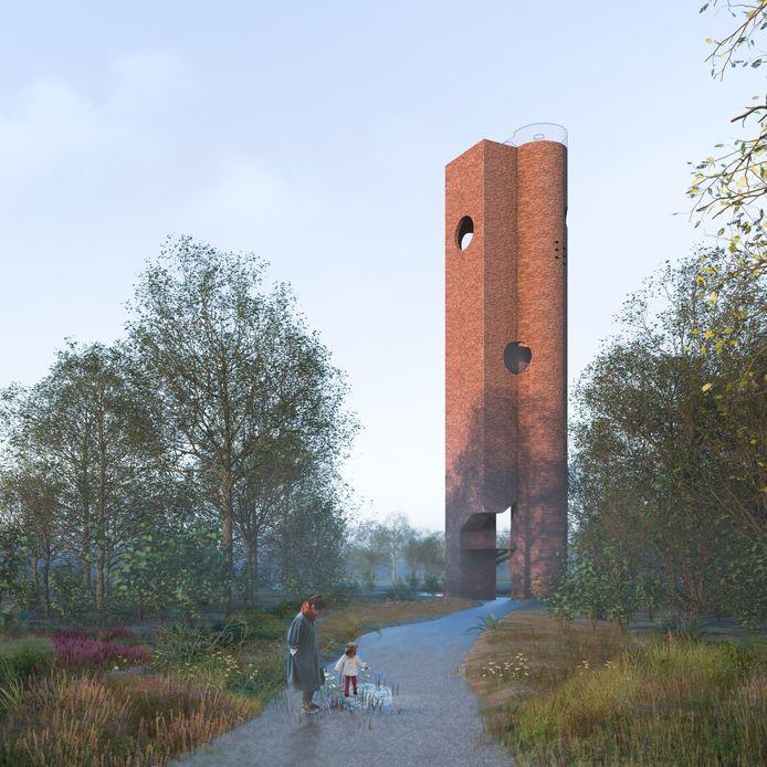 Het ontwerp voor de uitkijktoren dat in 2019 werd voorgesteld is naar de prullenbak verwezen.