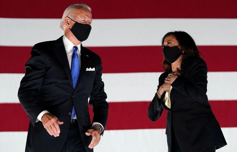 Joe Biden en running mate Kamala Harris vormen het Democratische duo. Beeld REUTERS