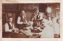 Sigarenfabriek De Rookende Moor, met tweede van links overgrootvader Jan Wagemaker.