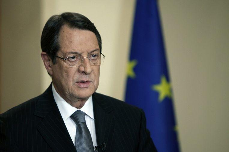 De Cypriotische president Anastasiades Beeld ANP