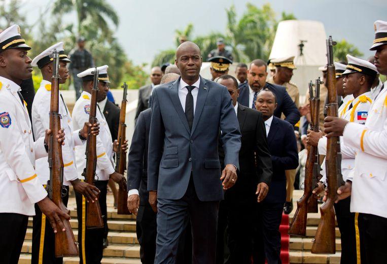 De Haïtiaanse president Jovenel Moise op archiefbeeld.  Beeld AP
