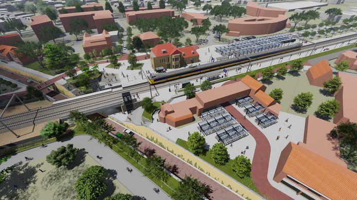 De nieuwe spoorzone in Rijen.