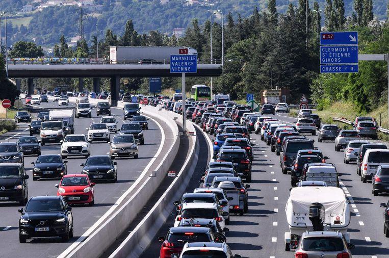 De A7 in het zuidoosten van Frankrijk. Beeld AFP