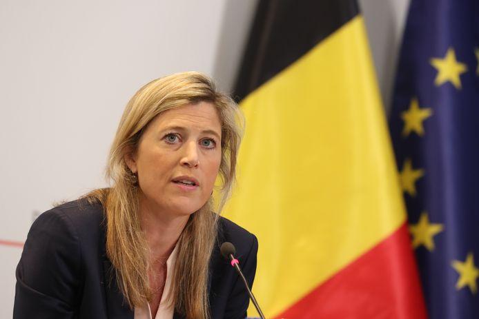 La ministre de l'Intérieur, Annelies Verlinden.