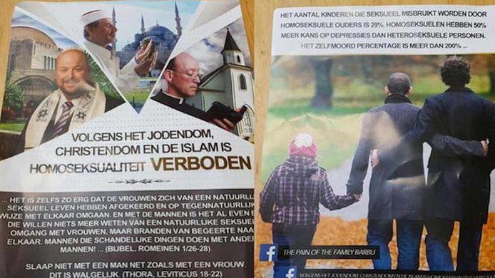 De flyer die in 2016 in West werd verspreid.