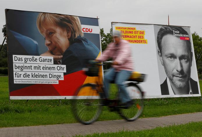 Verkiezingsborden in Duitsland.