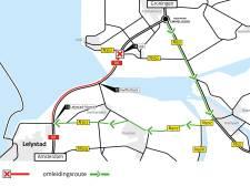 A6 van Urk naar Lelystad-Noord vier dagen dicht: verkeer omgeleid via Kampen