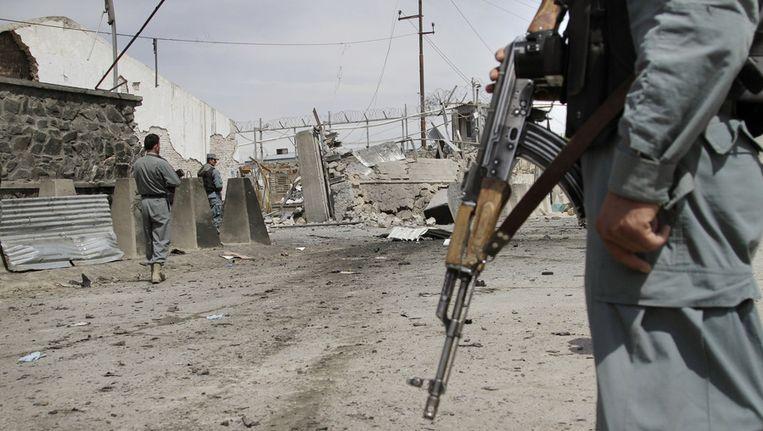 De Taliban claimden vandaag de zelfmoordaanslag in Kabul. Beeld ap