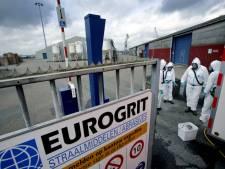 Ruim 50.000 ton met asbest vervuild straalgrit afgevoerd