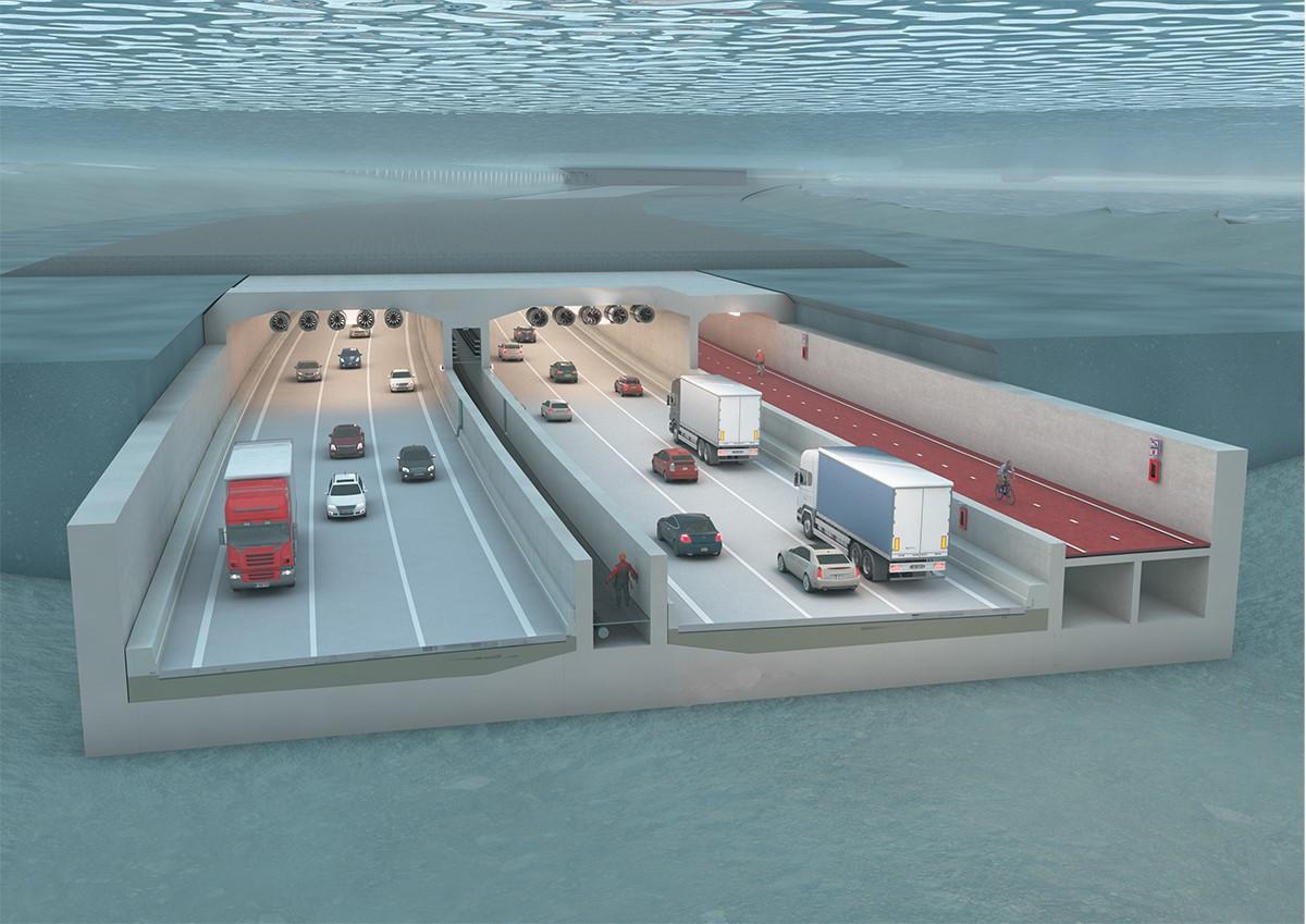 De Scheldetunnel gaat op Rechteroever ondergronds ter hoogte van het Noordkasteel. Op Linkeroever komt hij weer boven aan het Sint-Annaknooppunt tussen het Sint-Annabos en het natuurgebied Blokkersdijk.