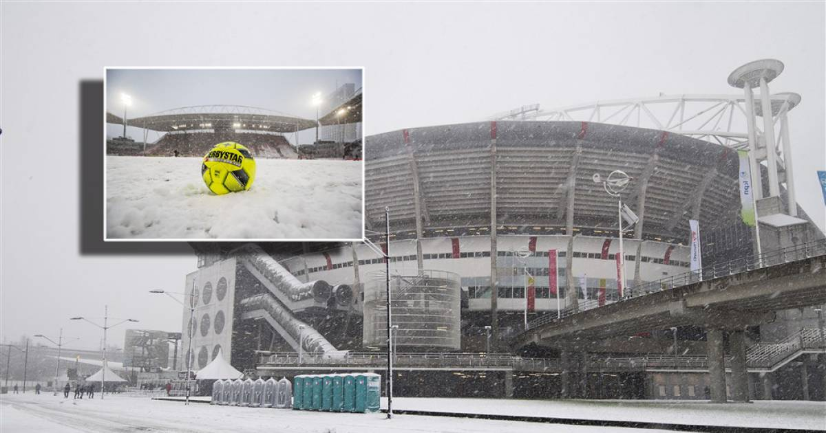 KNVB schrapt eredivisieprogramma van zondag vanwege verwachte sneeuwval - AD.nl