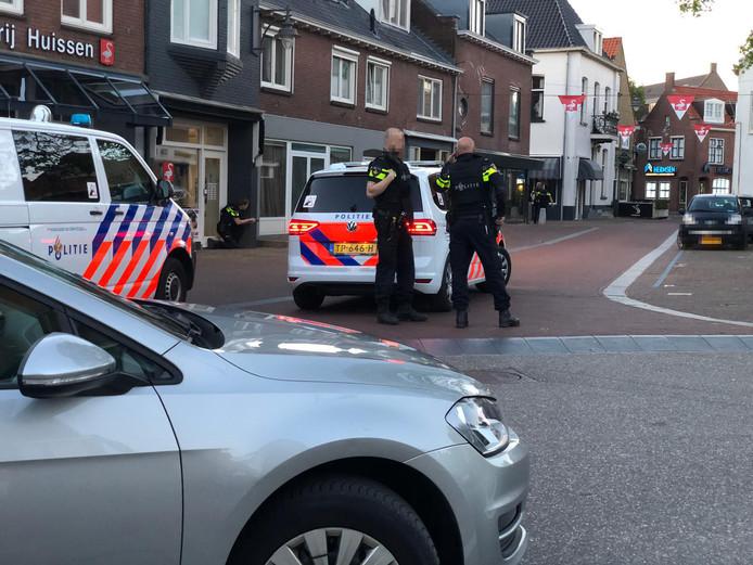 Politie ter plaatse in Huissen.