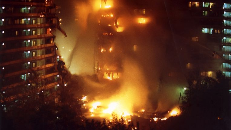 De Bijlmerramp, 4 oktober 1992. Beeld anp